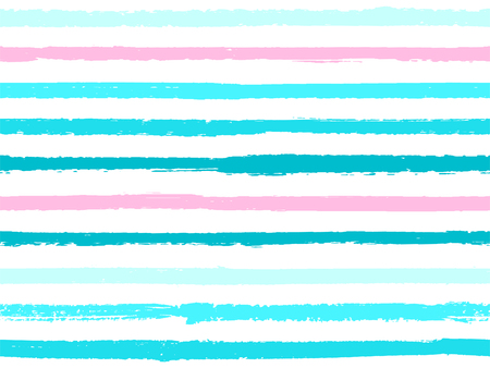 Hand drawn striped seamless pattern vintage background for textile. Paint stripes lines watercolor vector. Modern fashion texture linen fabric background. Cool seamless striped pattern. Foto de archivo - 123088827