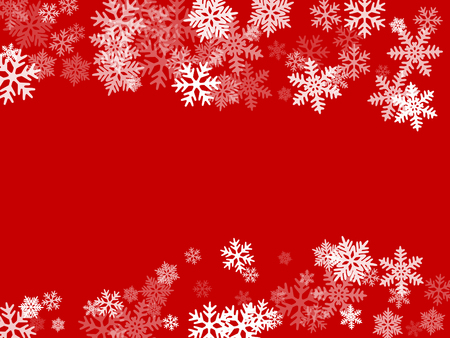 Winter snowflakes border trendy vector background.  Macro snowflakes flying border design, holiday banner with flakes confetti scatter frame, snow elements. Seasonal winter symbols.