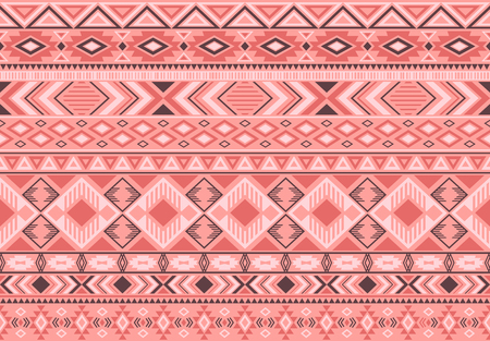Indonesian pattern tribal ethnic motifs geometric seamless vector background. Cool indian tribal motifs clothing fabric textile print traditional design with triangle and rhombus shapes.