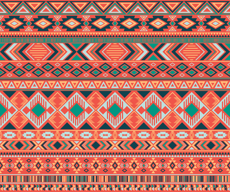 Navajo american indian pattern tribal ethnic motifs geometric seamless background. Graphic native american tribal motifs textile print ethnic traditional design. Navajo symbols textile pattern.