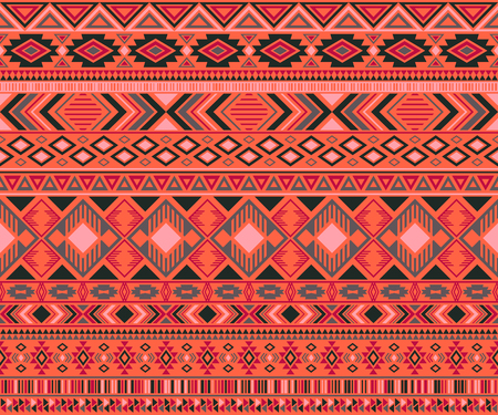 American indian pattern tribal ethnic motifs geometric vector background. Reklamní fotografie - 122582502