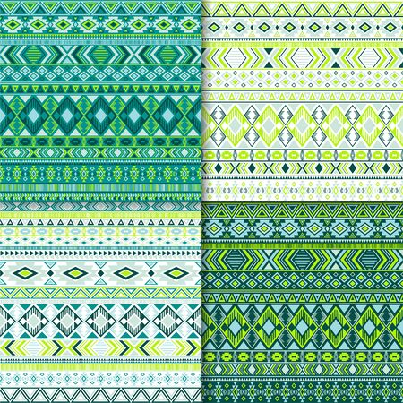 Indian tribal ethnic motifs geometric patterns collection. Bohemian tribal motifs clothing fabric textile ethno prints traditional design. South american folk fashion prints.
