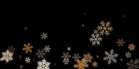 Winter snowflakes border card vector background.  Macro snowflakes flying border illustration, holiday banner with flakes confetti scatter frame, snow elements. Cold weather winter symbols.