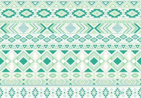 Sacral tribal ethnic motifs geometric vector background. Vintage gypsy geometric shapes sprites tribal motifs clothing fabric textile print traditional design with triangles
