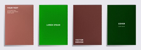 Tech covers linear design. Radial semicircle geometric lines patterns. Geometric poster, flyer, banner vector backgrounds. Line shapes patterns, header elements. Cover page templates.