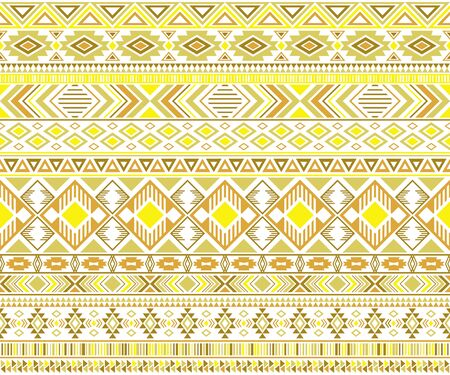 Sacral tribal ethnic motifs geometric seamless background. Cute gypsy tribal motifs clothing fabric textile print traditional design with triangles Illustration
