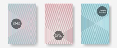 Halftone gradient texture vector cover layouts. Musical album adverts. Halftone lines annual report templates. Minimal booklets. Multiple lines cool gradient texture backgrounds.