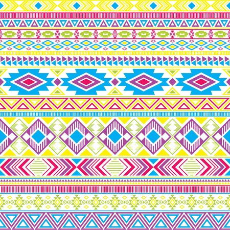 Mayan american indian pattern tribal ethnic motifs geometric seamless background. Eclectic native american tribal motifs clothing fabric ethnic traditional design. Mayan clothes pattern design.