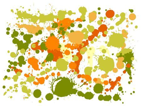Watercolor paint stains grunge background vector. Decorative ink splatter, spray blots, dirty spot elements, wall graffiti. Watercolor paint splashes pattern, smear liquid splats stains background.