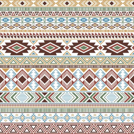 Mayan american indian pattern tribal ethnic motifs geometric vector background. Vintage native american tribal motifs clothing fabric ethnic traditional design. Aztec symbol fabric print.