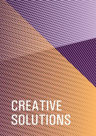 Halftone lines placard background graphic design. Fashionable branding cover design. Advertising commercial magazine. Trendy stationery folder background. Sale catalog vivid mockup.  イラスト・ベクター素材