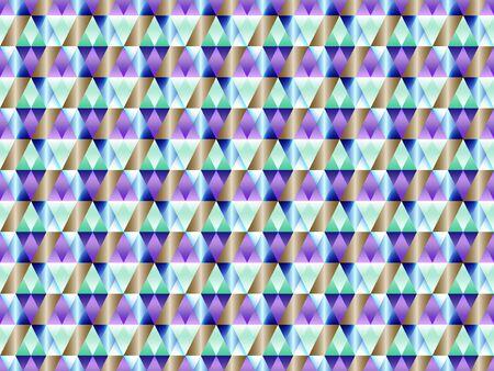Poly art grid geometric seamless vector background. Hypnotic polygon triangles geometric bauhaus design. Luxurious seamless pattern with gold poly gradient elements. Fabric pattern design. Ilustração