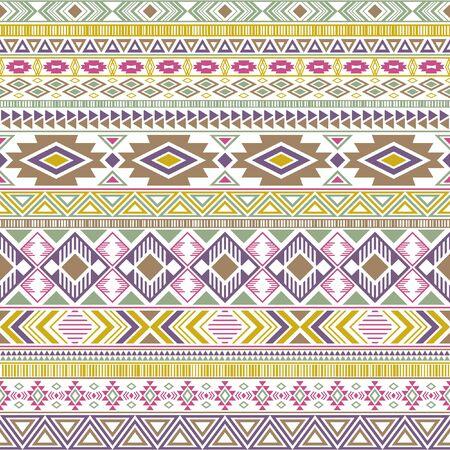 Mayan american indian pattern tribal ethnic motifs geometric vector background. Impressive native american tribal motifs clothing fabric ethnic traditional design. Aztec symbol fabric print.