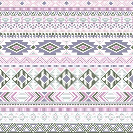 Aztec american indian pattern tribal ethnic motifs geometric vector background. Bohemian native american tribal motifs textile print ethnic traditional design. Mexican folk fashion. Ilustração