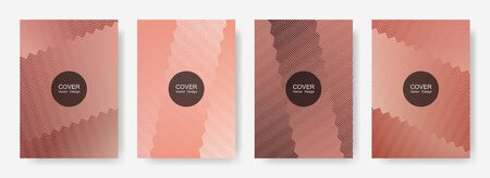 Gradient zig zag stripes texture vector backgrounds for   cover layouts. Simple zig zag gradient line stripes composition. Advertising banners set.
