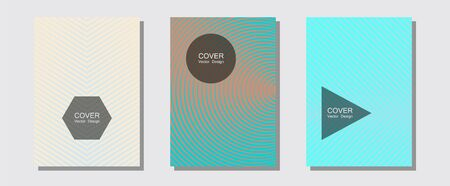 Geometric design templates for banners, covers. Digital collection. Halftone lines music poster background. Musical album adverts. Halftone brochure lines geometric design set. Illustration