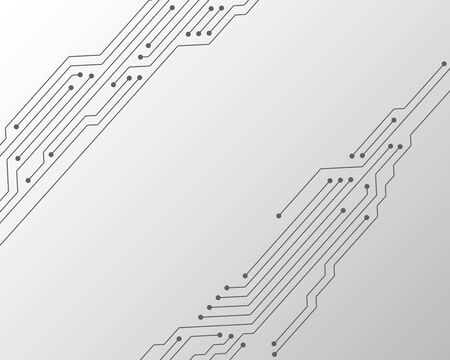 Circuit board or motherboard texture vector background graphic design. Semiconductor connections of computer hardware, microcircuit, motherboard elements. Processor microchips connections background.