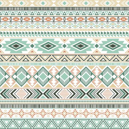 Aztec american indian pattern tribal ethnic motifs geometric seamless background. Cool native american tribal motifs clothing fabric ethnic traditional design. Aztec symbol fabric print.