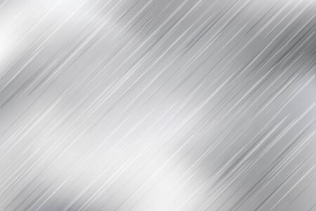 Silver foil texture monochrome background. Vector shiny and metal steel gradient backdrop. Metal background in black white grey colors. Silver texture surface.