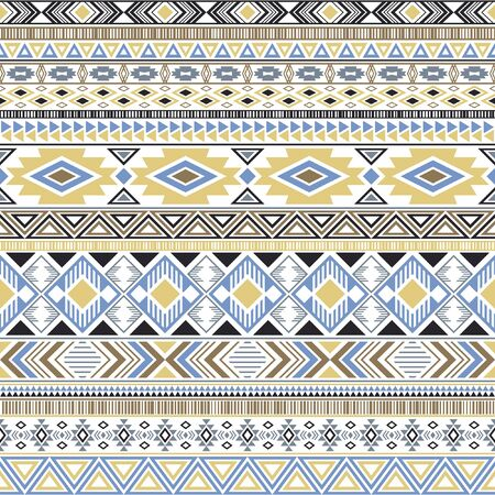 Mayan american indian pattern tribal ethnic motifs geometric vector background. Eclectic native american tribal motifs textile print ethnic traditional design. Mayan clothes pattern design.