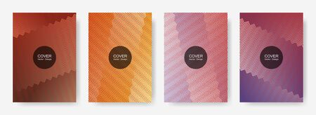 Gradient zig zag stripes texture vector backgrounds for scientific covers. Modern zig zag gradient line stripes pattern. Poster backdrops collection.