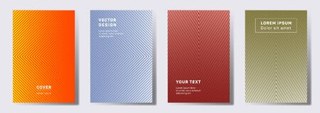 Dynamic covers linear design. Geometric lines patterns with edges, angles. Abstract poster, flyer, banner vector backgrounds. Line stripes graphics, title elements. Annual report covers.