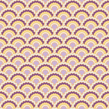 Modern snake skin scales squama background, vector seamless fabric pattern, tiled textile print. Typical japanese squama scales seamless arc tiles mosaic. Reptile skin pattern.