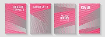 Geometric shapes line texture templates. Marketing brochure covers design set. Tech diagonal elements backdrops. Corporate branding leaflets. Future geometric patterns Eps10 vector. 일러스트