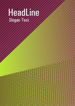 Brochure cover page layout geometric vector design. Scientific magazine concept. Banner backdrop simple print idea. School notebook cover template. Scientific journal concept.