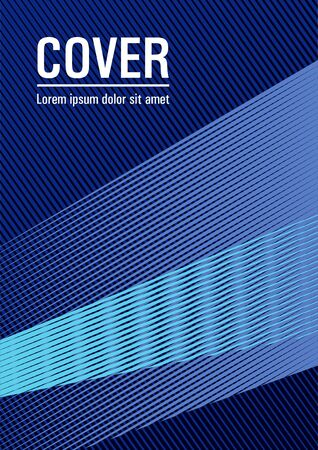 Geometric banner flyer background vector template. Cover with logo identity space. Stylish magazine vibrant leaflet. Abstract business catalog concept. Future geometric pattern Eps10 vector.
