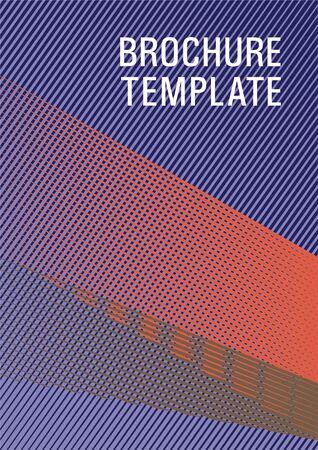 Halftone lines placard background graphic design. Stylish magazine vibrant leaflet. Tech diagonal elements backdrop. Marketing brochure cover design. Marketing catalog creative mockup.