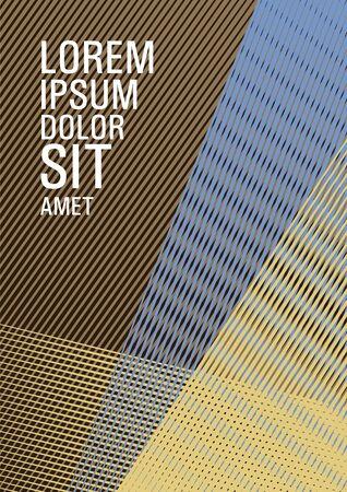 Linear geometry poster background vector template. Presentation elegant leaflet. 일러스트
