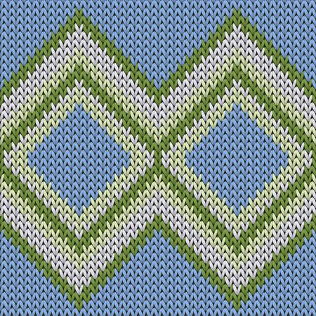 Natural rhombus argyle knitted texture geometric vector seamless. Rug knitwear structure imitation. Scandinavian style seamless knitted pattern. Handicraft backdrop.