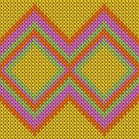 Cool rhombus argyle knit texture geometric vector seamless. Jacquard stockinet ornament. Fashionable seamless knitted pattern. Cozy textile print design.