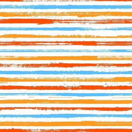 Grunge stripes seamless vector background pattern. Original decor lines pattern. Dry paintbrush stripes grunge backdrop print design. Decorative retro chevron. Ink paint lines textured background. Çizim