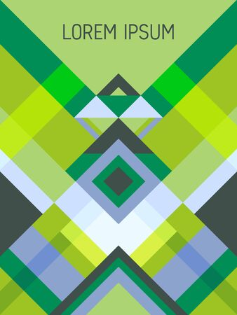 Chequered cover page layout vector template geometric design with triangles and stripes pattern. Ethnic brazil motifs. Striped bauhaus pattern vector cover design. Cool geometry.