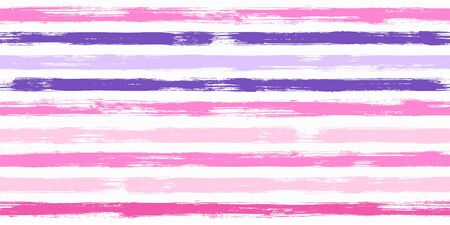Hipster watercolor brush stripes seamless pattern. Ink and paintbrush lines horizontal seamless texture for background. Hand drown paint strokes graphic artwork. For fabric.