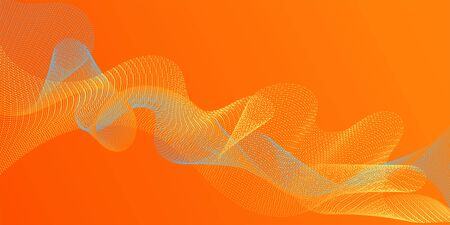 Fiber lines geometric simple background. Contemporary vector graphics with bent waves. Uneven curl lines ripple texture design. Scientific researches dynamic curves web trendy background. Ilustrace