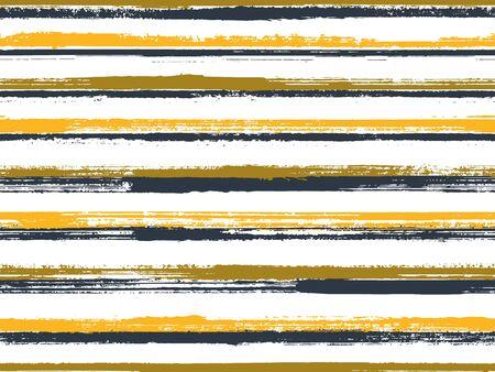 Casual stripes interior wallpaper seamless pattern. Original decor lines pattern. Interior tablecloth or wallpaper stripes print design. Unique minimalist design. Dry ink art lines background.  イラスト・ベクター素材