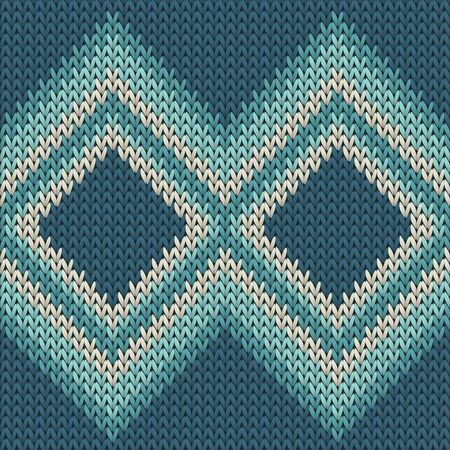 Cashmere rhombus argyle christmas knit geometric seamless pattern. Fair isle sweater knitting pattern imitation. Winter seamless knitted pattern. Christmas spirit backdrop.