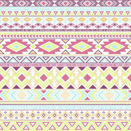 Mayan american indian pattern tribal ethnic motifs geometric vector background. Modern native american tribal motifs textile print ethnic traditional design. Mexican folk fashion. 向量圖像