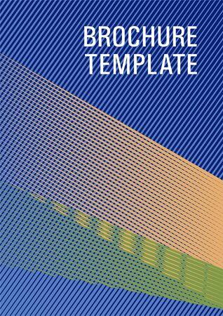Geometric banner flyer background vector template. Advertising commercial magazine. Trendy stationery folder background. Minimal presentation backdrop. Stationery notebook cover design.