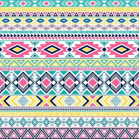 Mayan american indian pattern tribal ethnic motifs geometric vector background. Bohemian native american tribal motifs clothing fabric ethnic traditional design. Mexican folk fashion.