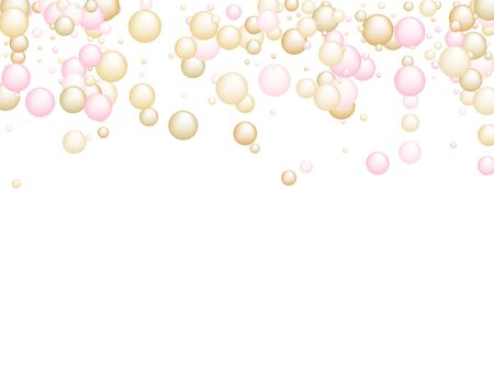Pink gold oil vitamin D and E pill capsules background vector for medical or healthcare template design. Golden droplet of oil or collagen essence. Vitamin complex concept in rose gold colors