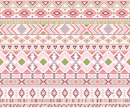 Gypsy pattern tribal ethnic motifs geometric vector background. Rich geometric shapes sprites tribal motifs clothing fabric textile print traditional design with triangles