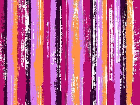 Watercolor strips seamless vector background. Acrylic paint texture swatch repeating design. Striped tablecloth textile print.  イラスト・ベクター素材
