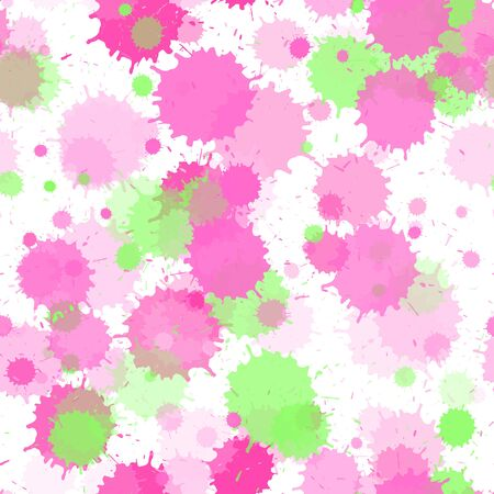 Watercolor paint transparent stains vector seamless grunge background. Artistic ink splatter, spray blots, dirty spot elements seamless. Watercolor paint splashes pattern, smear liquid stains.