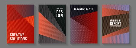Geometric flyer background vector templates. Fashionable branding covers design set. Triangle element layers modern patterns. Stylish magazine vibrant leaflets. Abstract business catalogs concept.