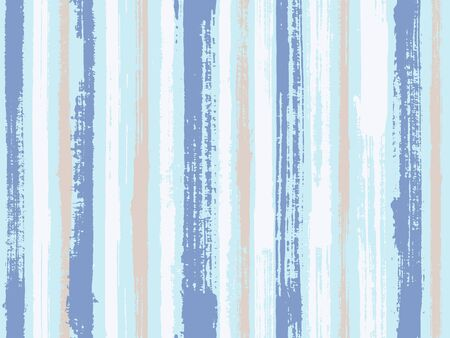 Watercolor strips seamless vector background. Old style material graphic background. Distress texture ornament sample swatch. Striped tablecloth textile print.