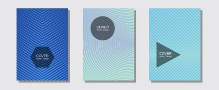 Abstract shapes of multiple lines halftone patterns. Elegant patchy mockups. Halftone lines music poster background. Music placards. Cool abstract shapes gradient texture backgrounds.